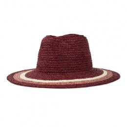 Hat Hat Hampton Raphia Bordeaux - Brixton
