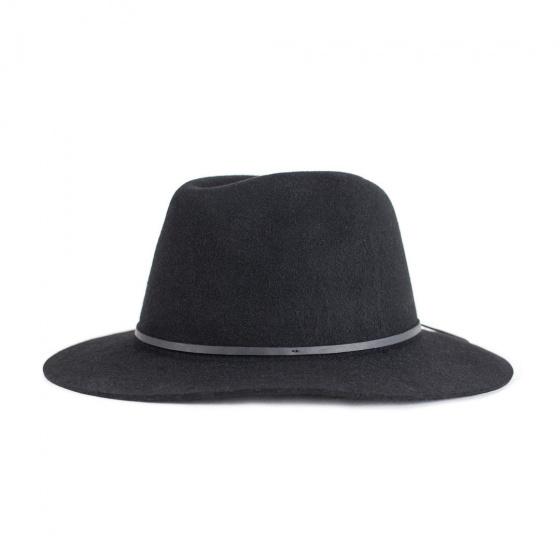 Chapeau Traveller Wesley Feutre Laine Noir - Brixton