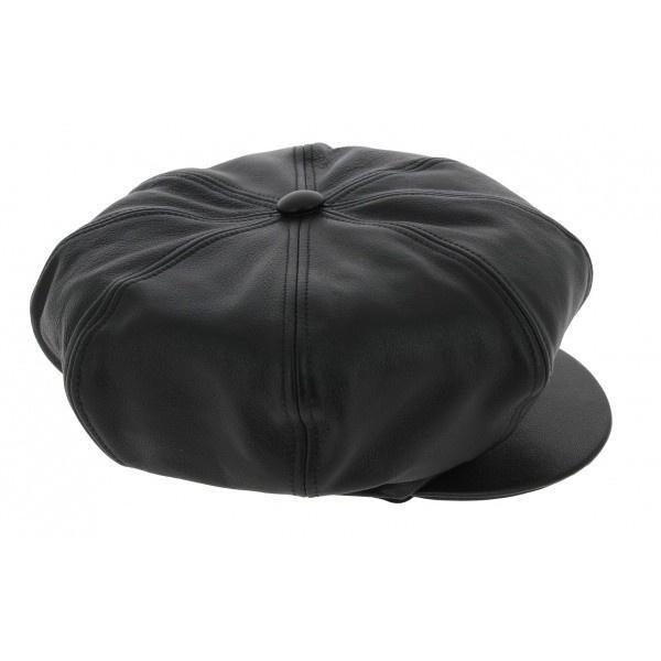 Leather gavroche cap