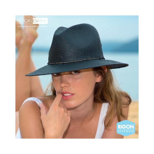 Chapeau Traveller Celine Noir - Rigon Headwear