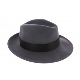 Chapeau Fédora Vanador gris ruban noir