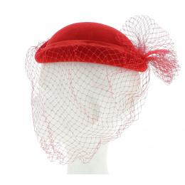 Chapeau feutre rouge de cérémonie
