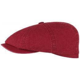 Casquette Hatteras Coton Biologique Rouge- Stetson