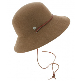 Chapeau Style Cloche The Meadow Feutre Laine Fauve - Coal