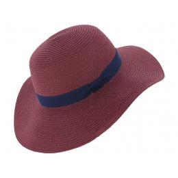 Rhodes Rhodes Straw Paper Hat - Raspberry - Traclet
