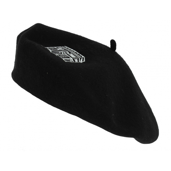 Arc de Triomphe wool beret - Black - Traclet
