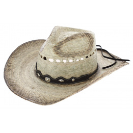 Chapeau Cowboy Buffalo Riding Paille Naturel - Traclet