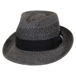 Chapeau Fedora Wilshire Noir Paille - Bailey