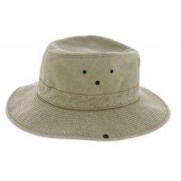 Chapeau safari Mozambique coton beige