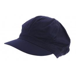 Casquette Gavroche Bleu Marine Coton - Traclet
