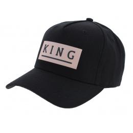 Casquette Baseball Manor Noir Coton - King Apparel