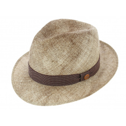 Chapeau Fedora Marrone Melange Papier - Tesi