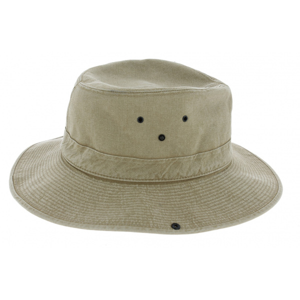Chapeau Safari Mongo Coton Beige - Crambes
