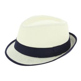 Chapeau Tribly Blanc Papier Paille - Traclet