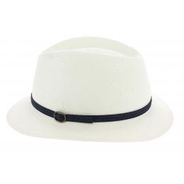 Chapeau Traveller Panama Blanc - Fléchet