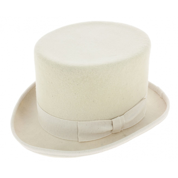 Top Hat Wool Felt White- Guerra