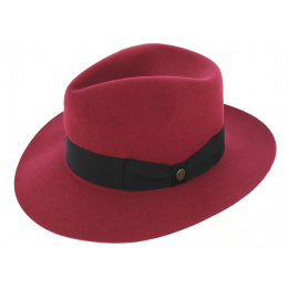 Fedora Pink Felt Hat - Guerra 1855
