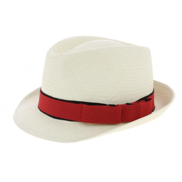 Chapeau Trilby Devote Panama Personnalisable - Traclet