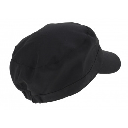 Silver Black Polyester Studded Army Cap - Traclet