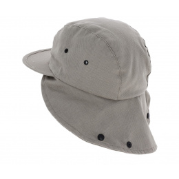 Hunter Cotton Beige Neck Cap - Traclet