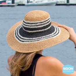 Capeline Betina Bicolore Fibres Naturelles- Rigon Headwear
