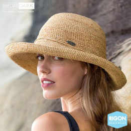 Chapeau Breton Raffia Naturelle Anoucka - Rigon Headwea