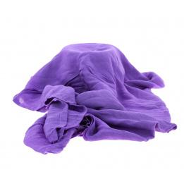 Chèche bi ton violet gris
