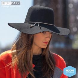 Capeline Lynette Feutre Noir- Rigon Headwear