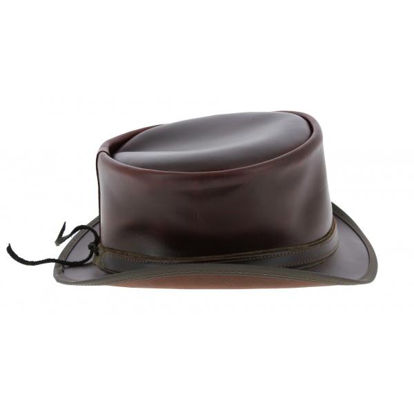 Chapeau Demi Haut de Forme Hampton Cuir - Head'nHome