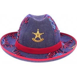 chapeau sherif crambes enfant