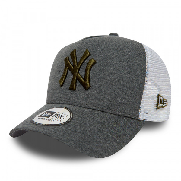 New York Yankees Cap Grey Essential With Trucker Frame