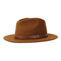 Chapeau Fedora Messer Feutre Laine Cognac- Brixton