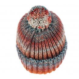 Bonnet Agrume orange a Pompon