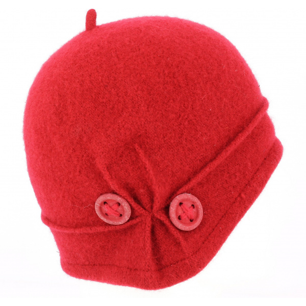 Beret- Bonnet City Laine Rouge- TRACLET