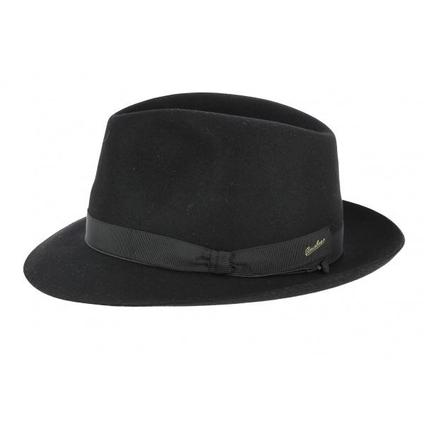 c2ca93c32bd ... Borsalino hat men black ...