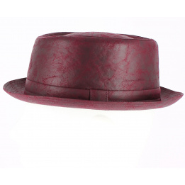 trilby leather hat