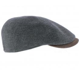 Ongi Flat Cap Grey Wool - Traclet