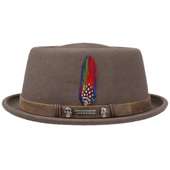 Porkpie Lions Woolfelt Brown Hat - Stetson