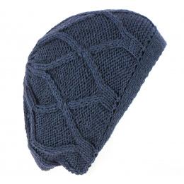 Beret knit Maroon