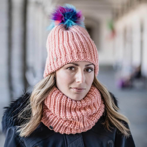 Snood Knitted Polaire Orange - Buff
