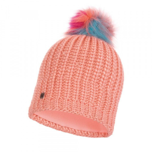 Bonnet Knitted Dania polaire Orange - Buff