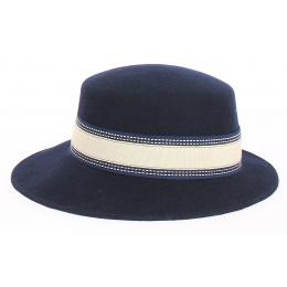 Giuditta - casquette en feutre Marine- Grambes