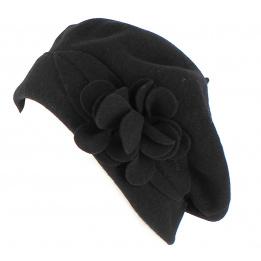 Béret Capucine Noir- Héritage par Laulhère