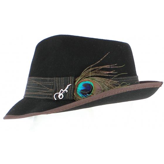 Chapeau Fedora Clark Feutre Noir - Carlos Santana