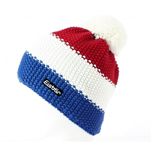 cheap new photos wholesale online Bonnet Pompon Star Bleu Blanc Rouge - Eisbär
