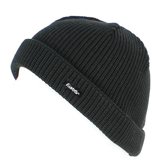 Short Cap Pat MÜ Wool Black - EISBÄR