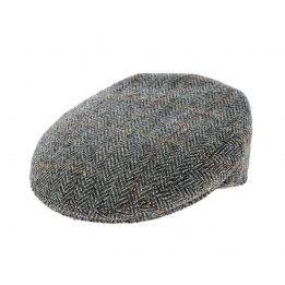 Casquette Plate Brighton Harris Tweed Marron- Traclet