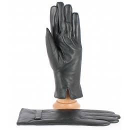 Dave Black Lamb Leather Gloves - Traclet