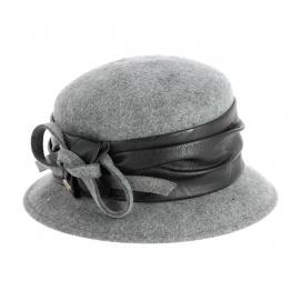 Chapeau Cloche Astrid en Feutre Laine Gris- Traclet