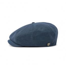 Casquette Plate Brood Coton Bleu Profond- Brixton